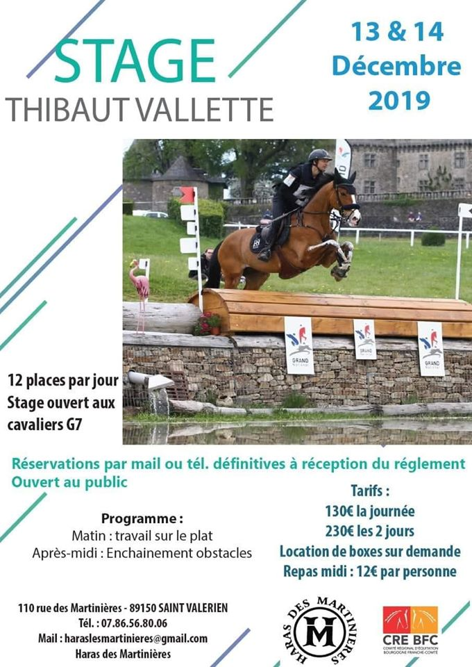 Stage avec Thibaut Vallette