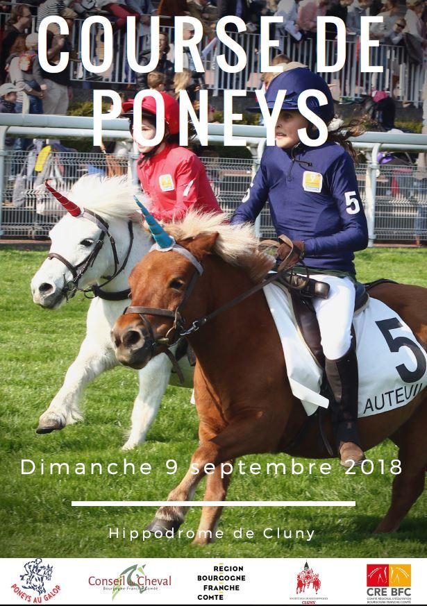 Course de poneys à l'hippodrome de Cluny