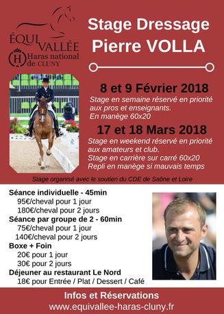 Stage dressage avec Pierre Volla à Cluny