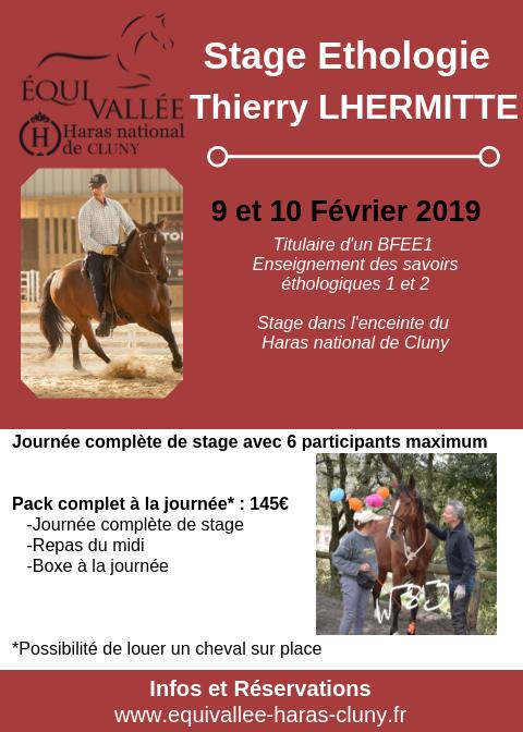 Stage éthologie avec Thierry Lhermitte à Cluny (71)