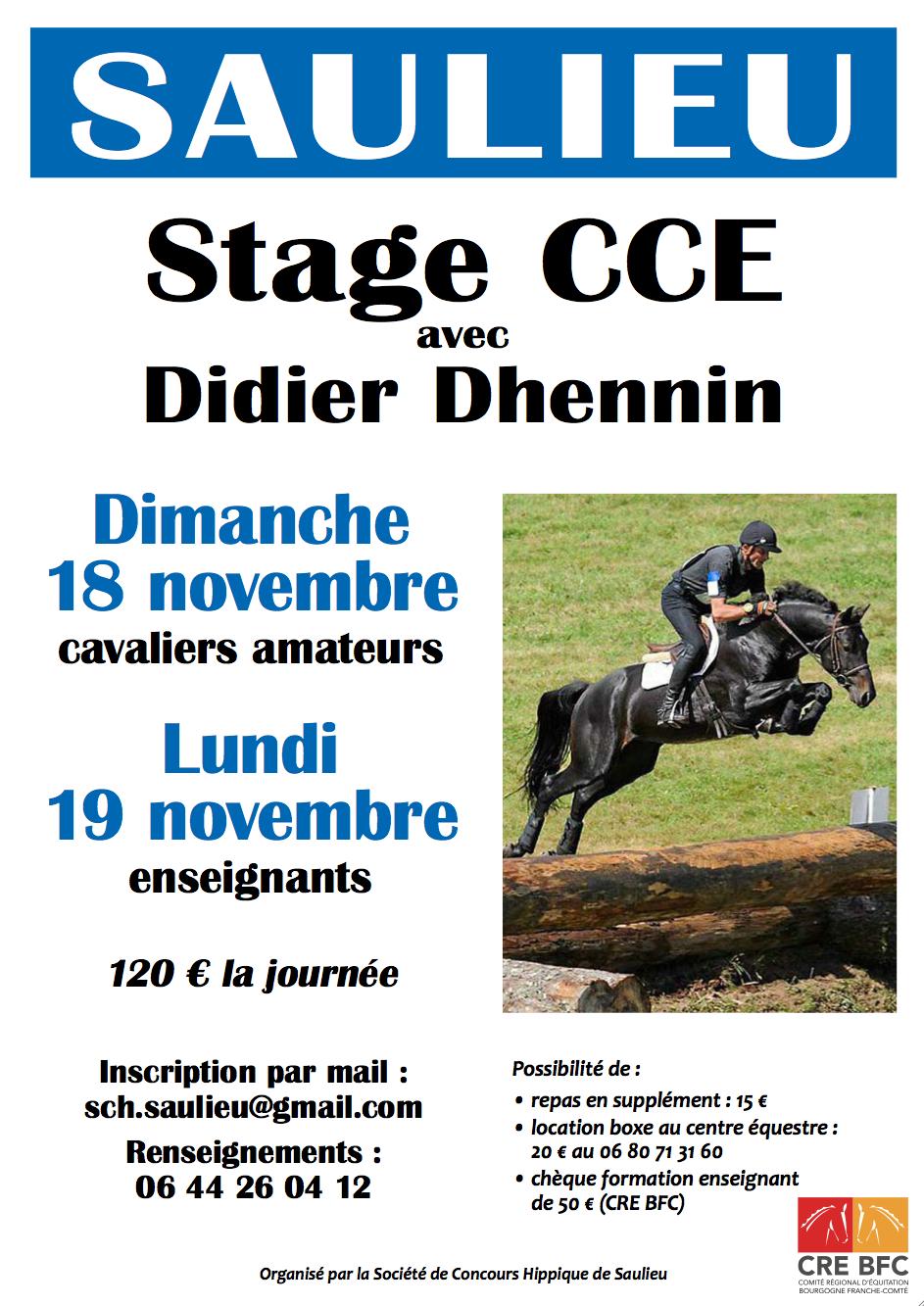STAGE CCE AVEC DIDIER DHENNIN - SAULIEU (21)