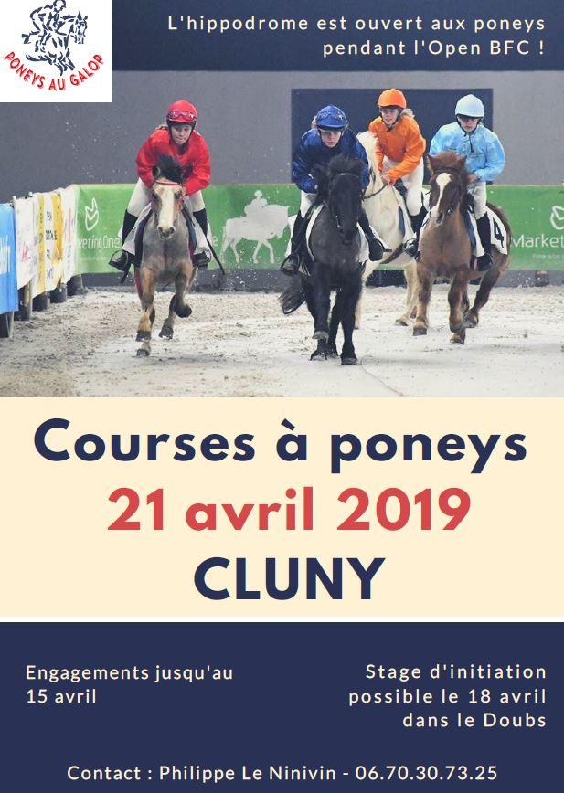 courses de poneys à Cluny
